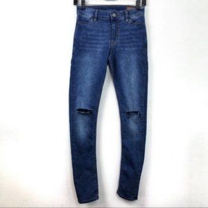 ASOS Skinny Jeans With Ripped Knees size 26